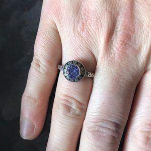 Silpada size 9 amethyst stone ring